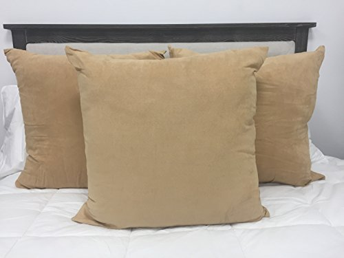 koni euro pillow sham with insert polyester tan color 24x24 in