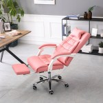 Howstar Computer Chair With Footrest Adjustable Backrest Reclining Leather Office Chair Walmart Com Walmart Com