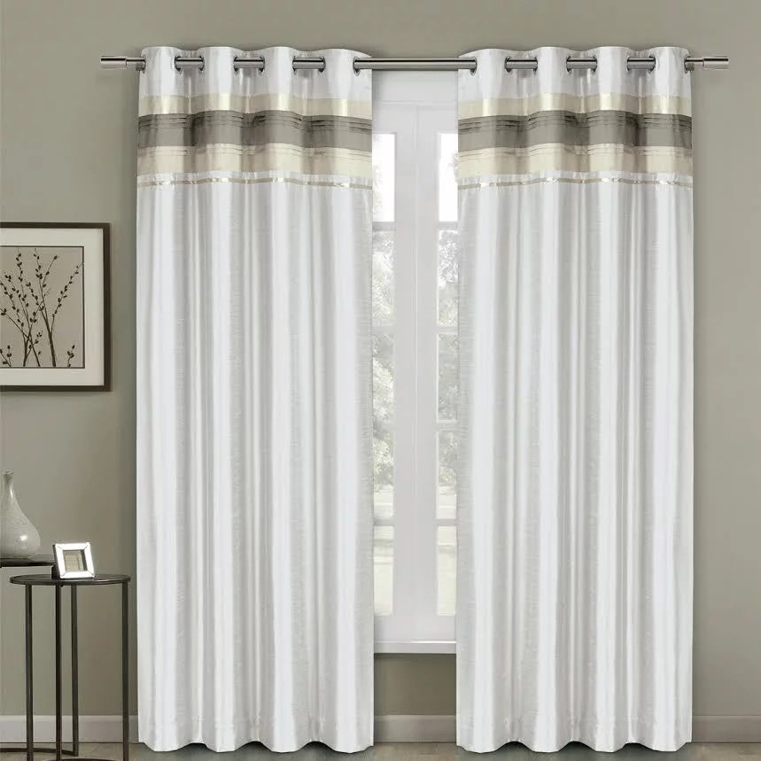 milan blackout multilayer energy saving grommet single curtain panels 54 x 96 panel white