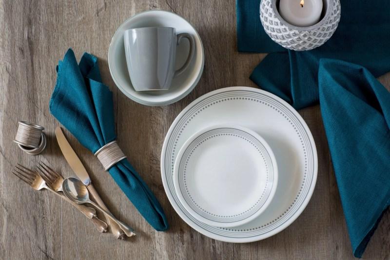 Corelle Classic Mystic Gray 16-Piece Dinnerware Set