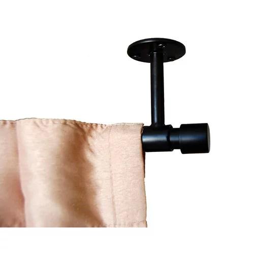 verona ceiling mount curtain rod black
