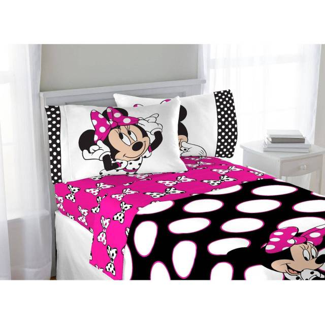 Disney Minnie Mouse Twin Bed in a Bag 5 Piece Bedding Set with