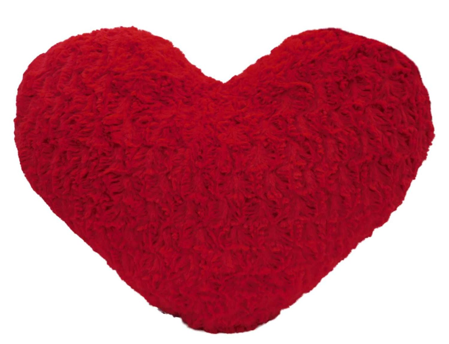 decor oversized red heart shaped faux fur throw pillow valentine accent cushion