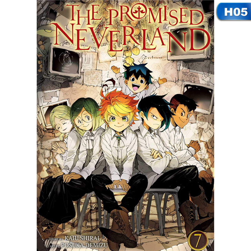 yaoping anime cartoon the promised neverland retro poster poster mural high quality poster home bar cafe decoration