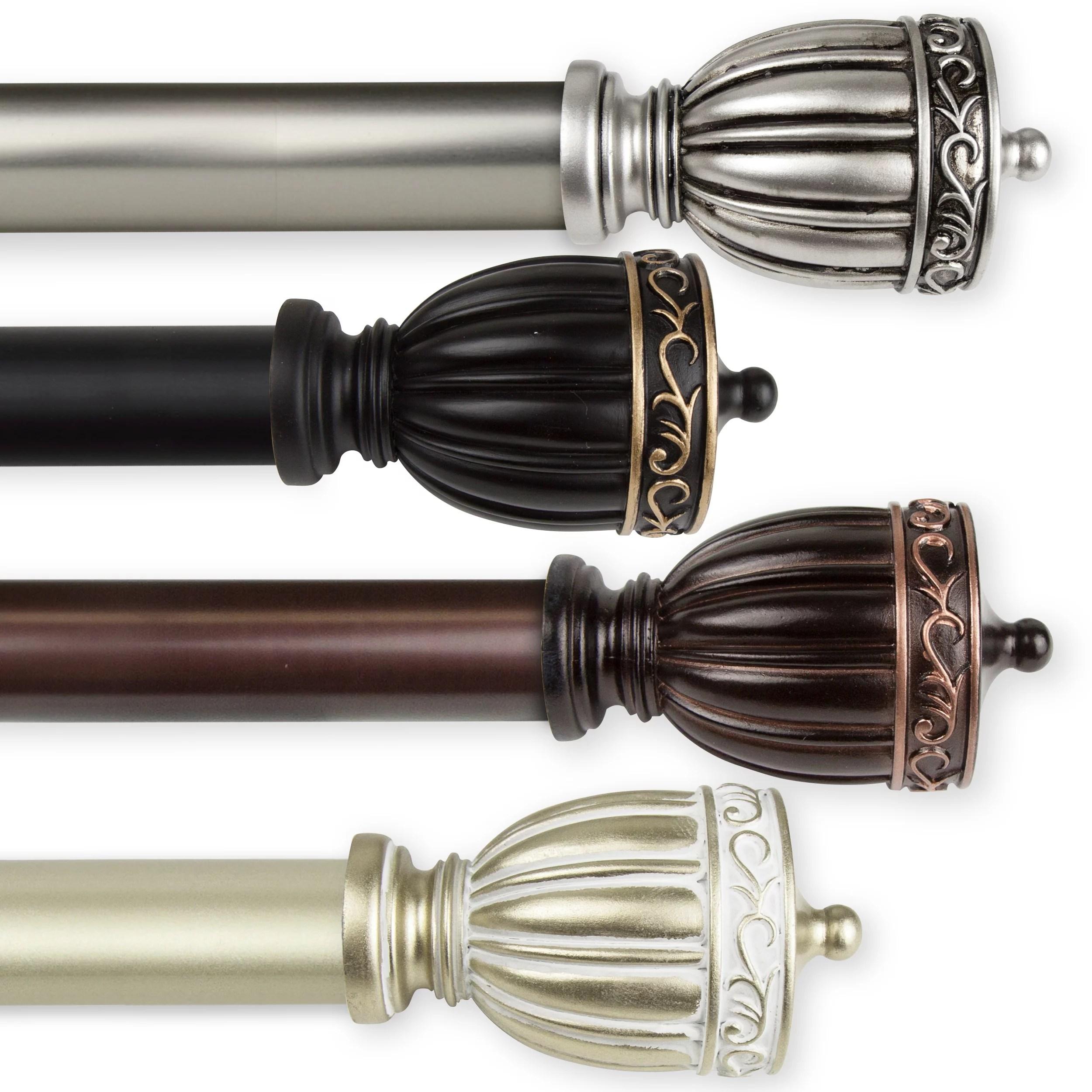 debussy 1 dia curtain rod 160 240 inch black