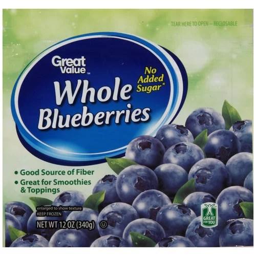 Great Value Frozen Blueberries 12 Oz
