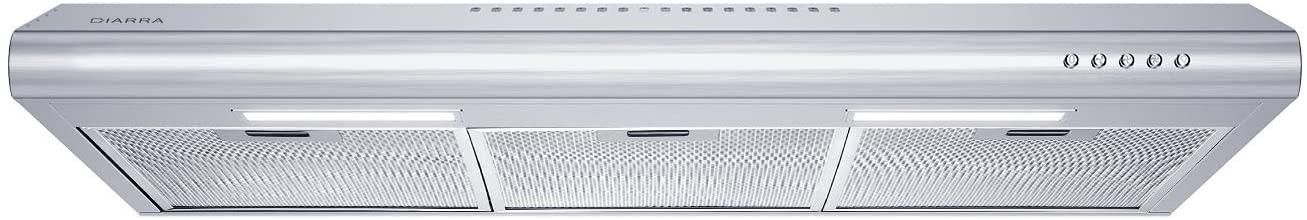 ciarra cas75918b under cabinet range hood 200 cfm stove hood with ducted ductless convertible slim vent hood with 3 speed exhaust fan