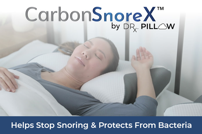 carbon snorex 8 in 1 cooling pillow with anti snore technology and germ allergen defense