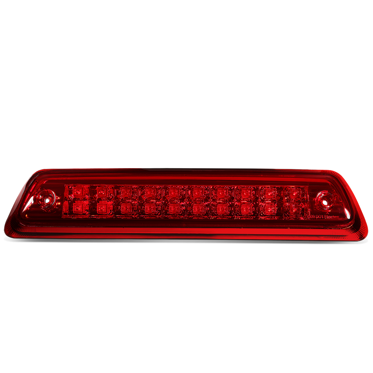 For 2009 to 2014 Ford F150 Lincoln Mark LT Dual Row LED 3rd Third Tail Brake Light w/Cargo Lamp Red Housing 10 11 12 13