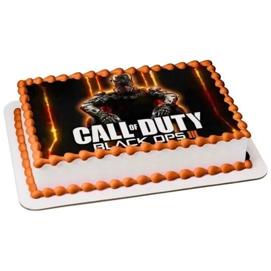 Call Of Duty Black Ops 3 Birthday Edible Image Photo 1 4 Quarter Sheet Cake Topper Personalized Custom Customized Birthday Party Abpid04059 Walmart Com Walmart Com