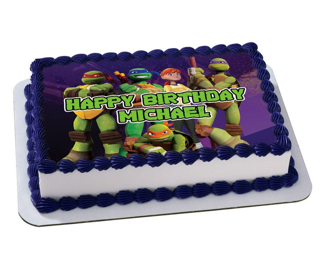 Ninja Turtles Quarter Sheet Edible Photo Birthday Cake Topper Personalized 1 4 Sheet Nbsp Walmart Com Walmart Com