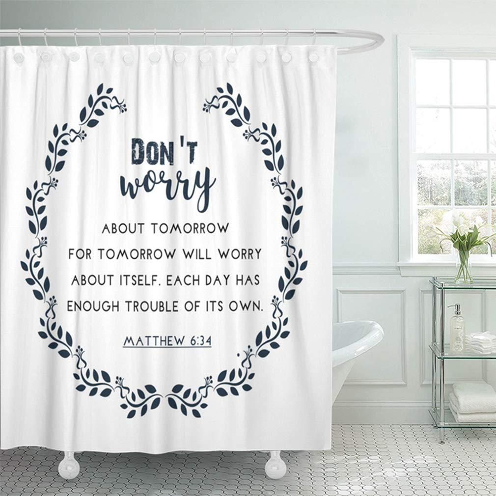 ksadk verse bible quote in wreath text psalm scripture biblical catholic christ church shower curtain bath curtain 66x72 inch