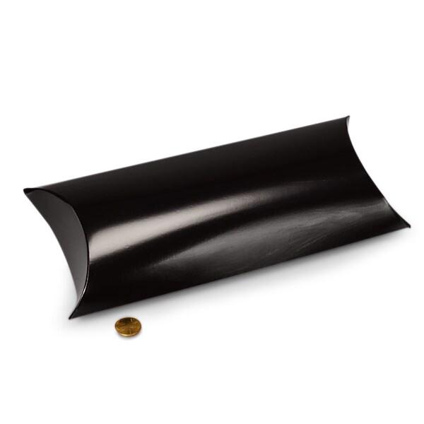 250ea 5 x 2 x 8 7 8 black pillow box by paper mart