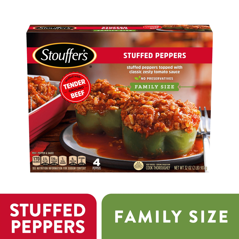 stouffer s family size stuffed peppers frozen dinner 32 oz walmart com