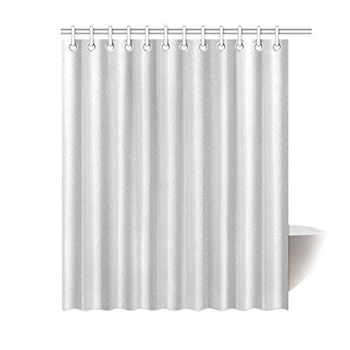 mkhert modern minimalist solid grey polyester fabric bathroom shower curtain 60x72 inch