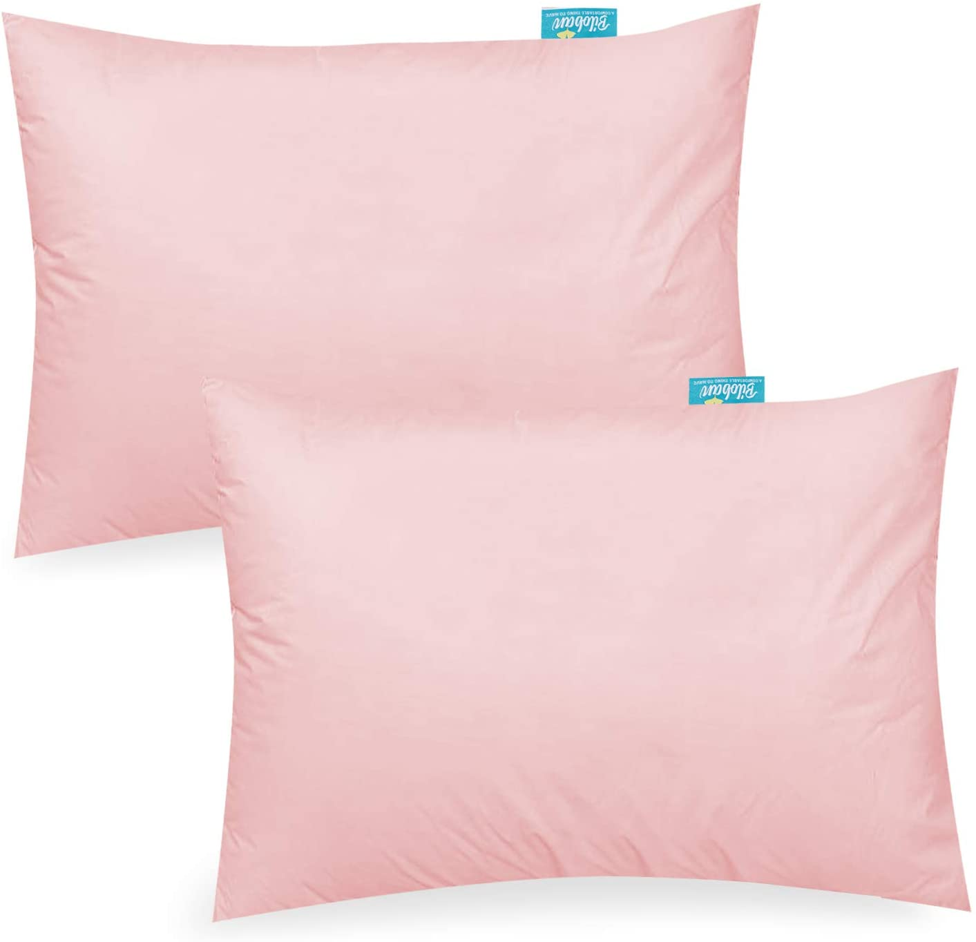 biloban travel toddler pillowcase 2 pack for girls 100 cotton pillowcase for sleeping fit small pillow for 12 x 16 13 x 18 14 x 19 pink
