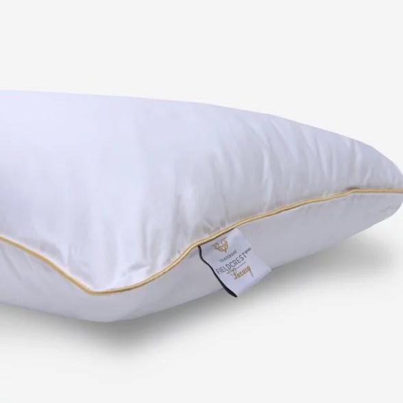 fieldcrest luxury microgel support pillow back stomach sleeper