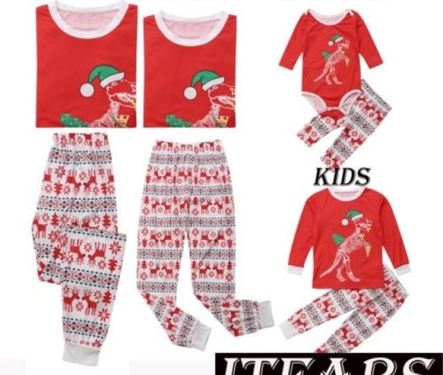 Family Matching Christmas Pajamas Set Cotton Women Baby Kids Sleepwear Nightwear Walmart Com