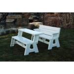 Convert A Bench Folding Picnic Table Bench White Walmart Com Walmart Com