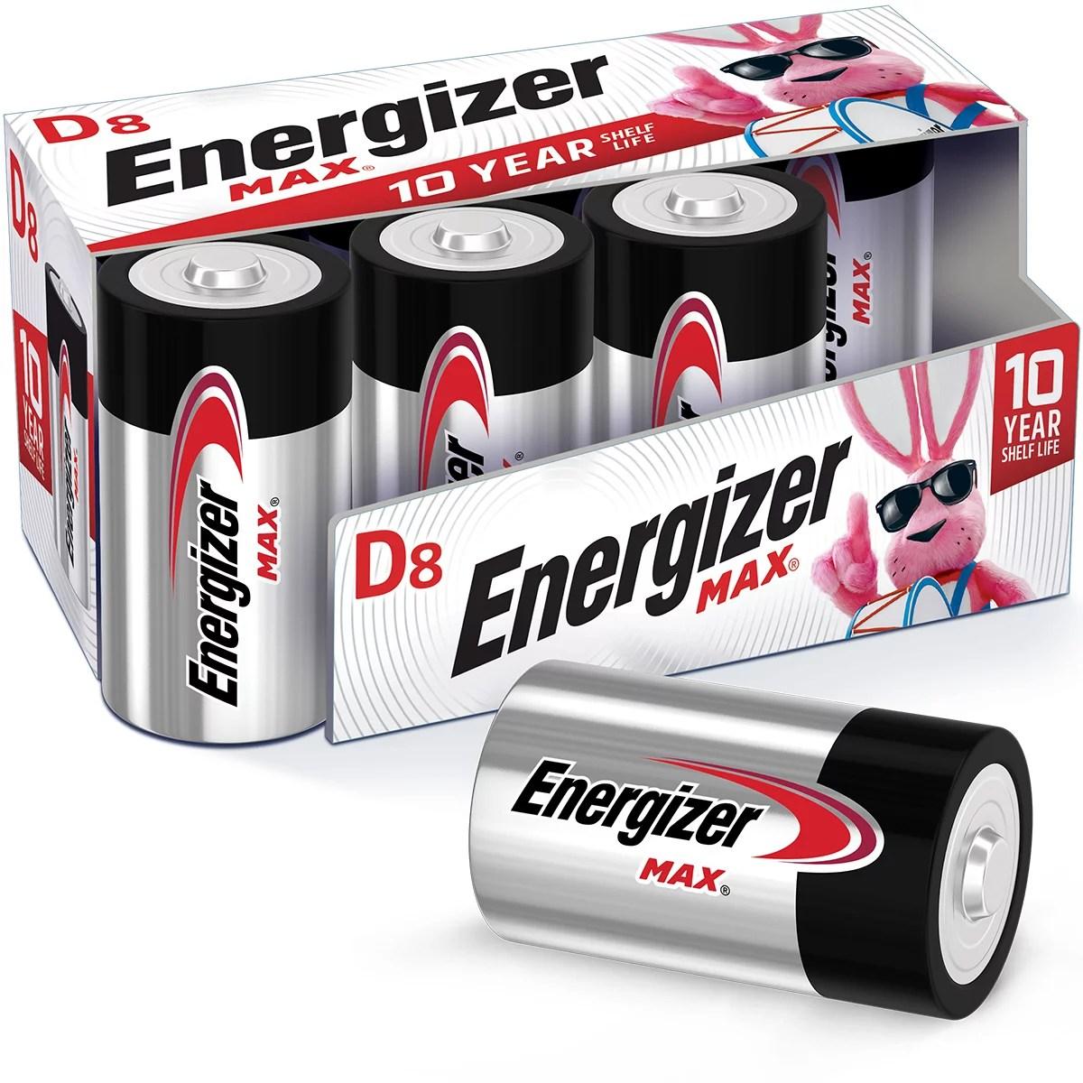 Energizer Max Alkaline D Batteries 8-Pack
