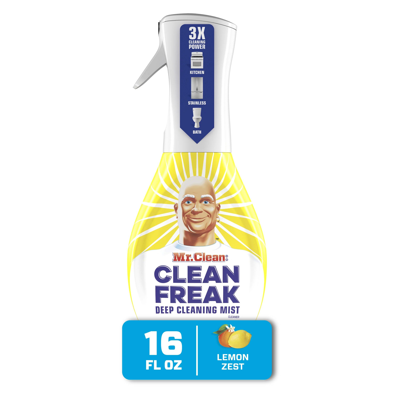 mr clean clean freak multi surface spray starter kit lemon zest walmart com