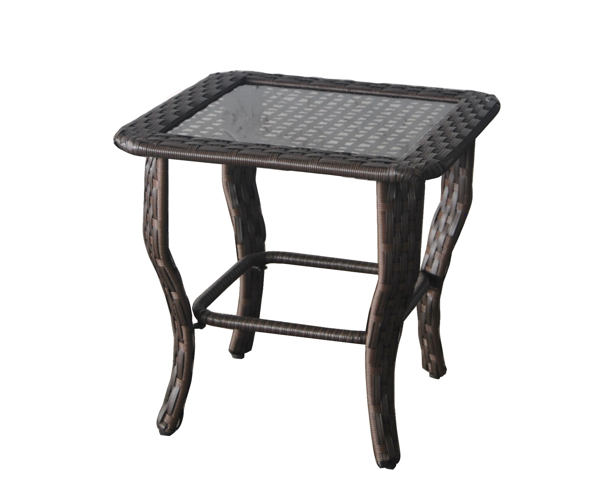 better homes and gardens colebrook outdoor glass top side table