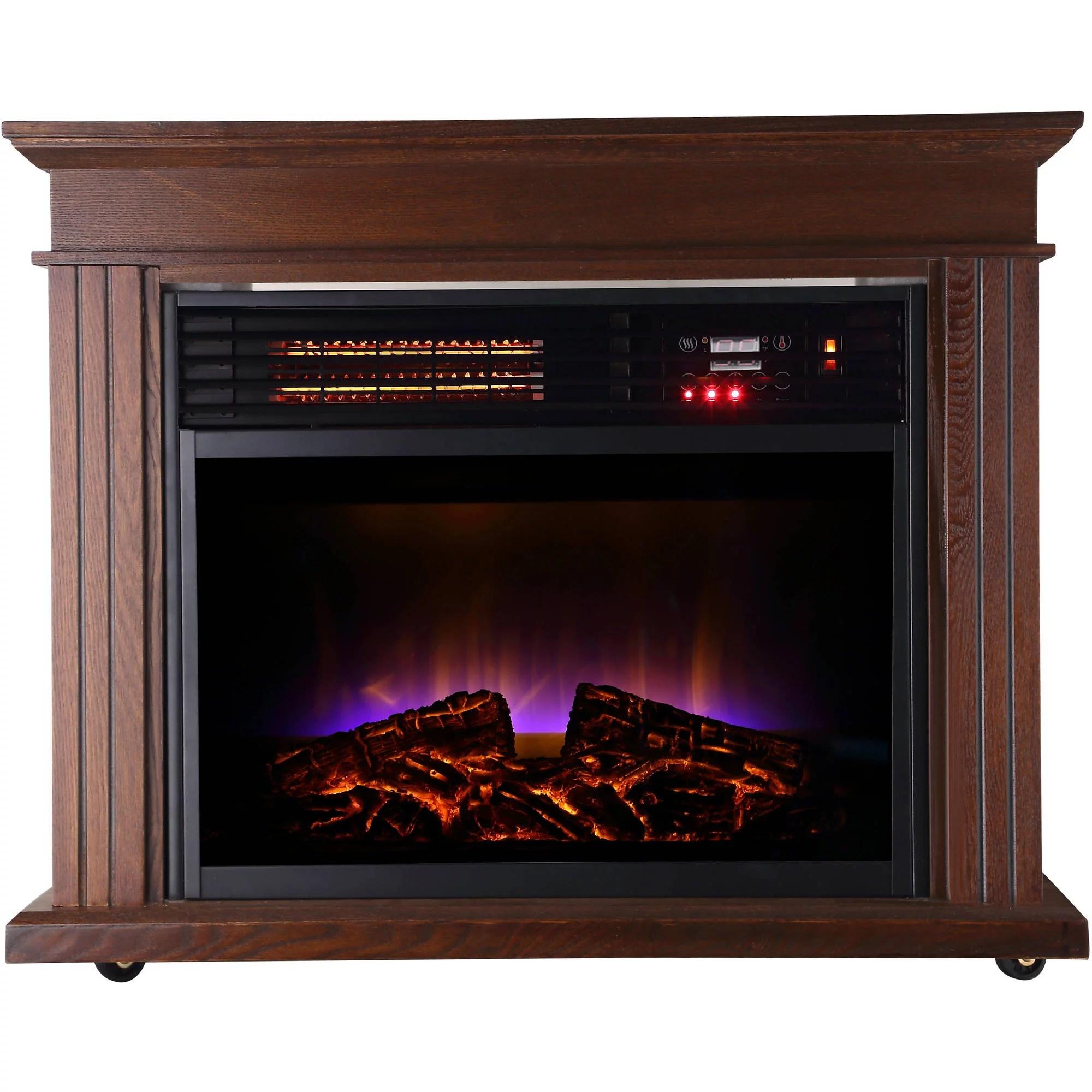 Warm Living Fireplace Quartz Infrared 3 Element Heater