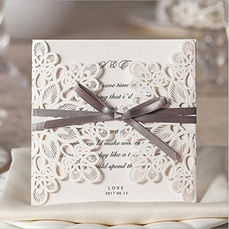 Doris Home Square Wedding Invitations Cards Kits Fall Bridal Or Baby Shower Invite Birthday Invitation Rehearsal Dinner