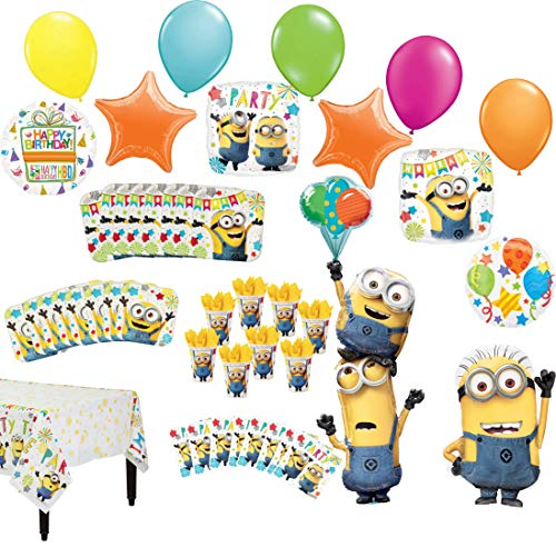 Despicable Me Minions Birthday Party Supplies 8 Guest Table Decorations And Balloon Bouquet Walmart Com Walmart Com
