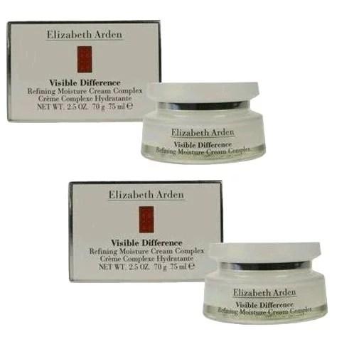 Elizabeth Arden 2.5oz x 2 Visible Difference Refining Moisture Cream Complex