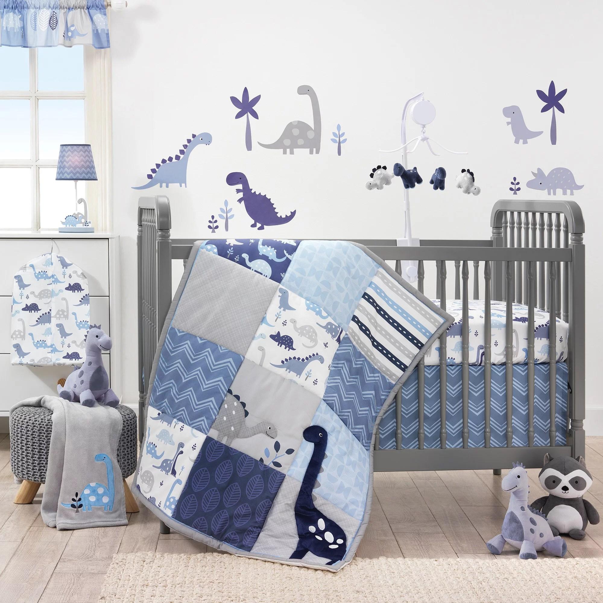 bedtime originals roar dinosaur 3 piece crib bedding set walmart com