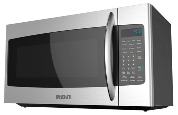 rca 1 8 cu ft over the range microwave oven stainless steel rmw1846 ss