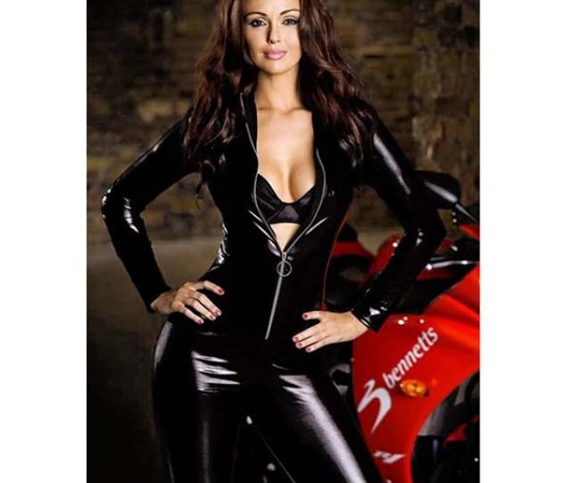 Image Size Xxl Catsuit Clubwear Sexy Vinyl Pvc Leather Zipper Dress Costume Adult