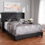 Baxton Studio Brady Modern And Contemporary Charcoal Gray Fabric Upholstered King Size Bed Walmart Com Walmart Com