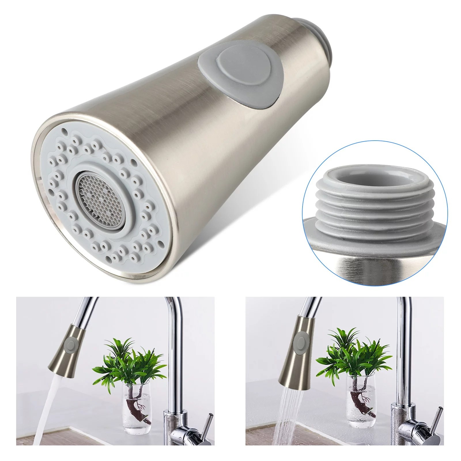 eeekit pull down faucet spray head angle simple kitchen sink faucet sprayer head nozzle pull out hose sprayer replacement part faucet head kitchen