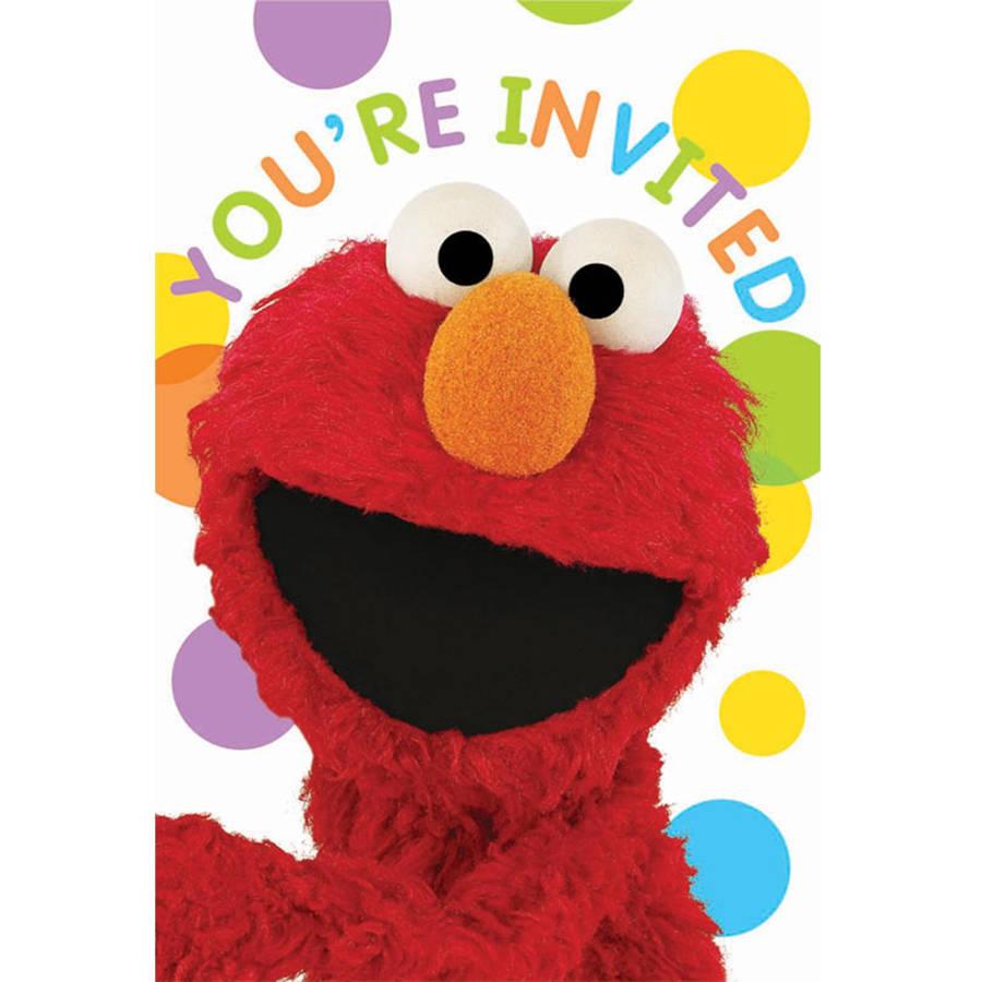 sesame street party invitations 8pk walmart com