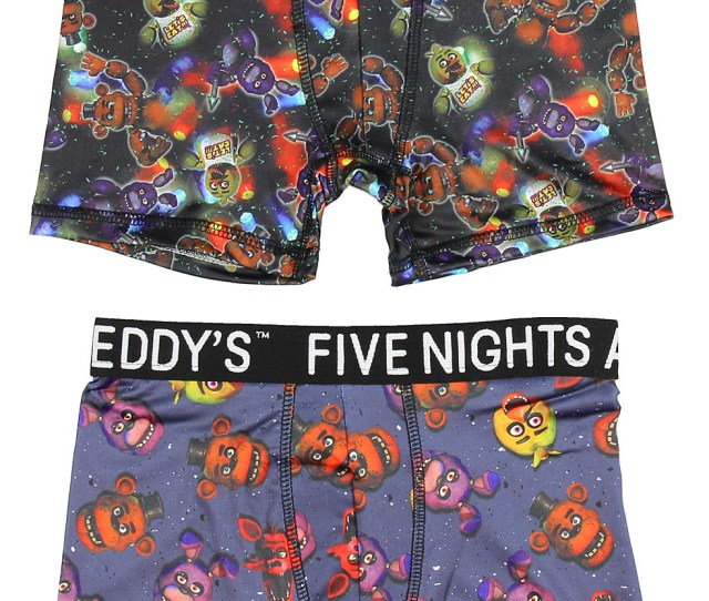 Bioworld Five Nights At Freddys Action Underwear 2 Pack Boys Boxer Briefs Walmart Com