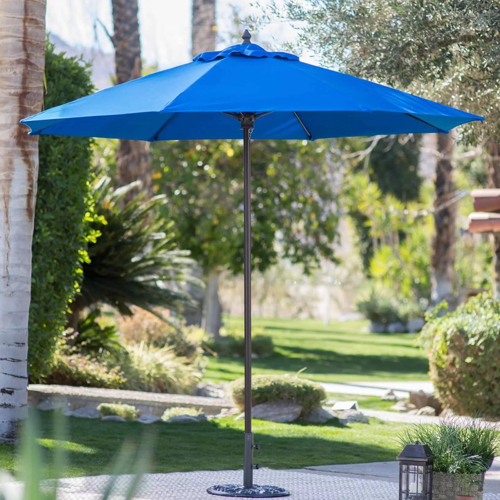 belham living 9 ft sunbrella commercial grade aluminum wind resistant patio umbrella