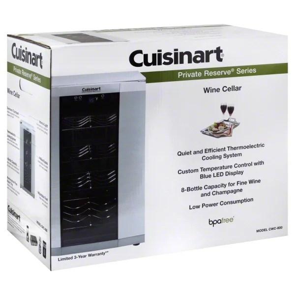 Cuisinart Cwc 800 8 Bottle Private Reserve Wine Cellar Walmart