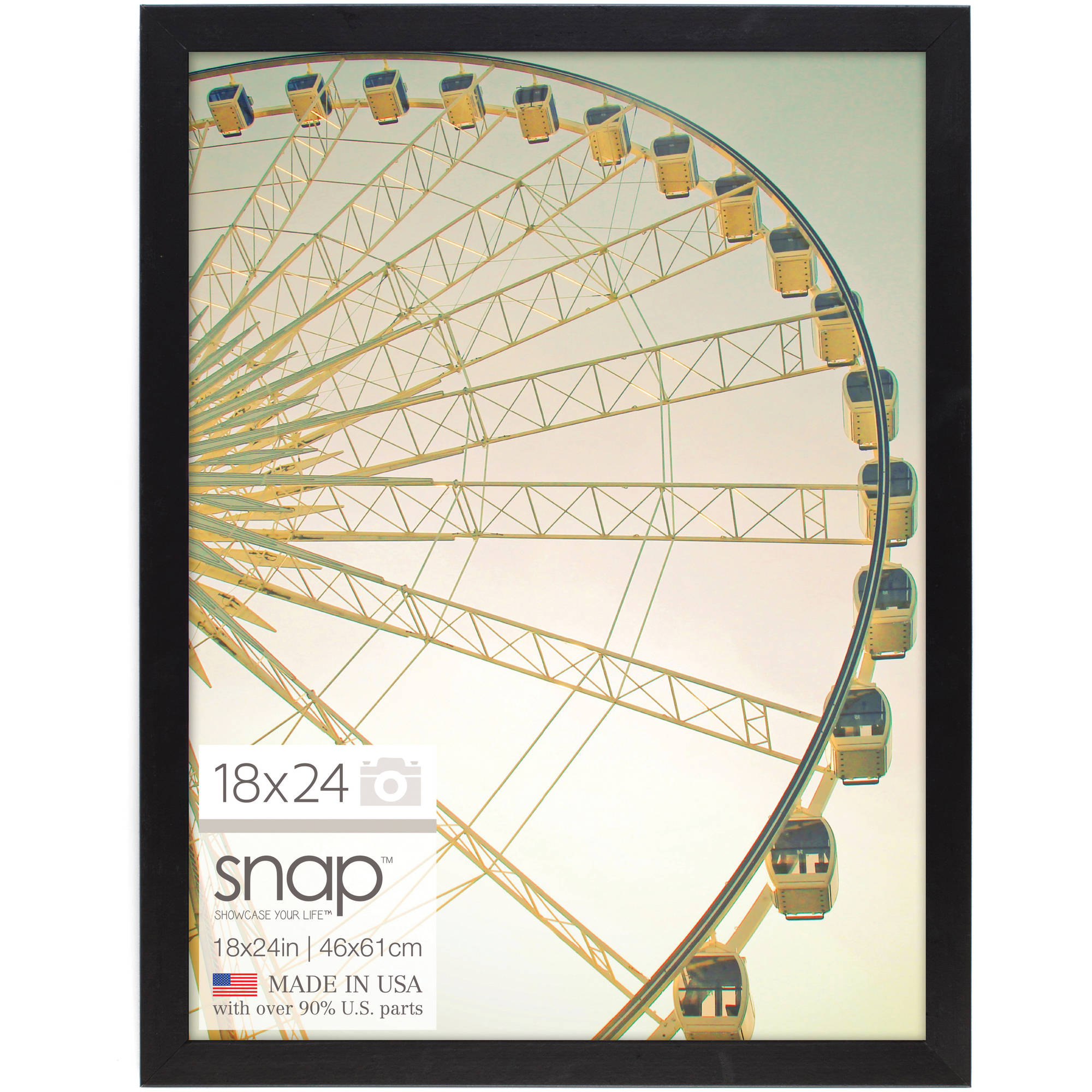 snap black square poster frame 18 x24 walmart com