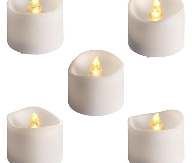 Amir Flameless Candles  Pcs Led Tea Light Candles Realistic Candle Lights For Christmas