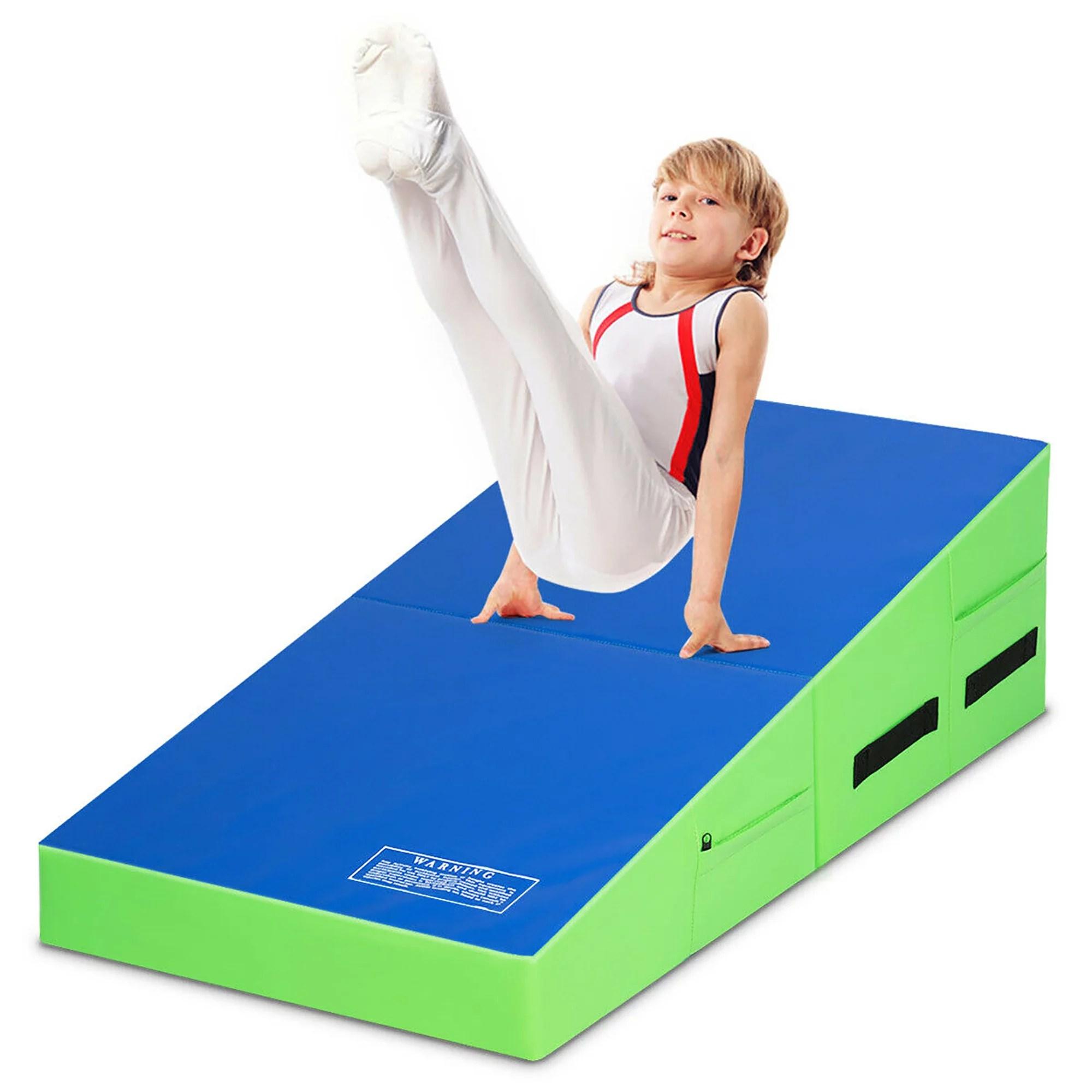 matelas gymnastique epais et pliable en epe tapis d exercice en cube et trapeziforme tapis de gymnastique antiderapant pour gym yoga gymnastique
