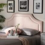 Baxton Studio Avignon Modern And Contemporary Light Pink Velvet Fabric Upholstered Queen Size Headboard Walmart Com Walmart Com