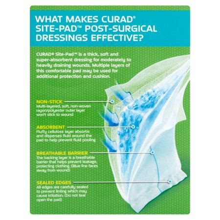 Curad Web site-Pad Submit-Surgical Dressings, 12 depend eef3d50d 087a 4259 86e7 8c7eb50be434 1