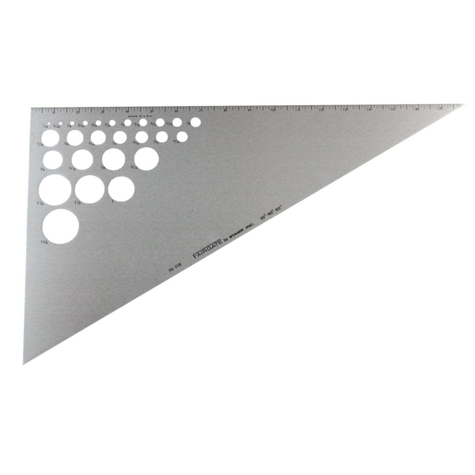 Fairgate 18 30 60 90 Aluminum Triangle Rule With 26