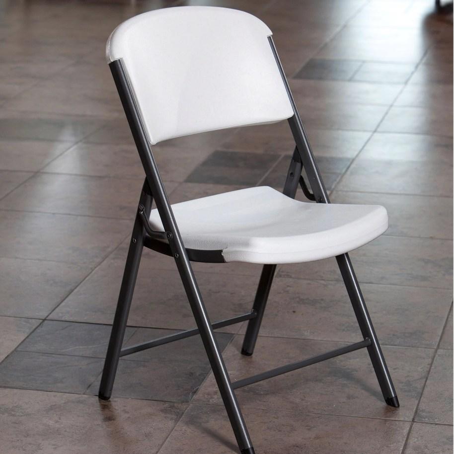 Premium White Plastic Folding Chair, Set of 6 - Walmart.com