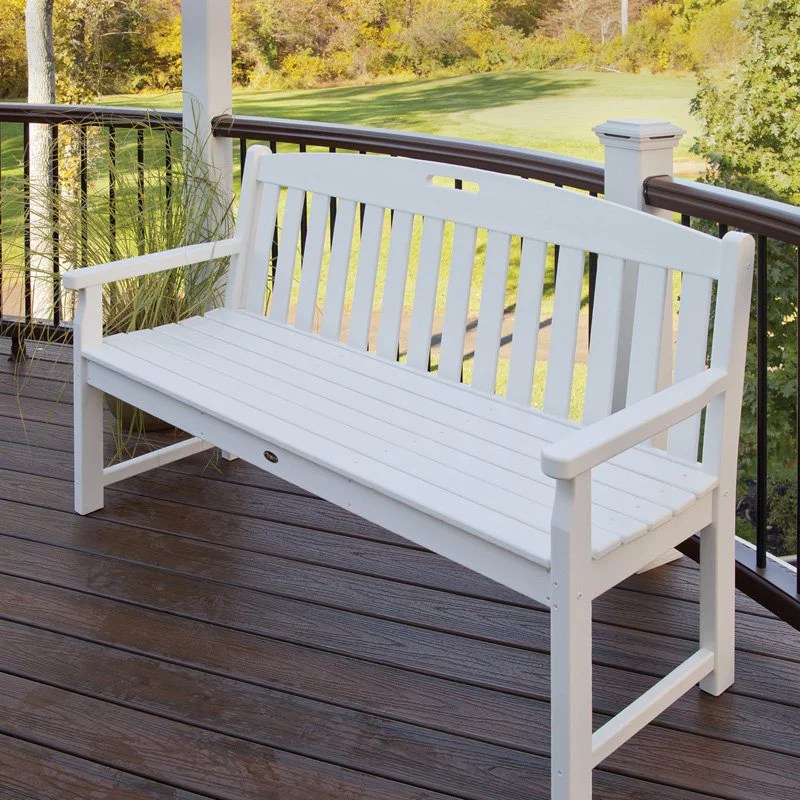 trex outdoor furniture recycled plastic yacht club bench