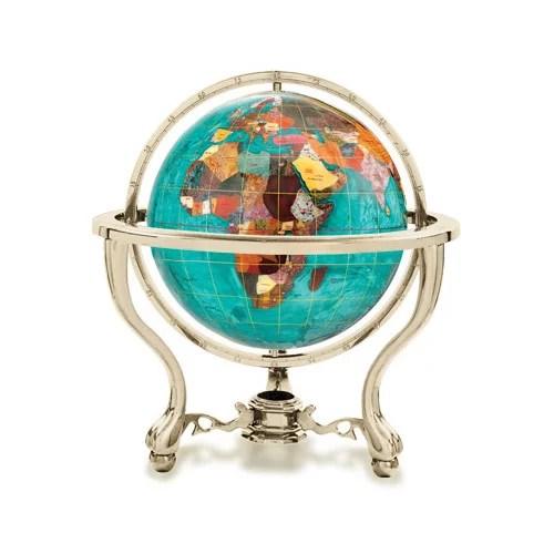 Kalifano Amethyst 3 In Gemstone Globe Paperweight