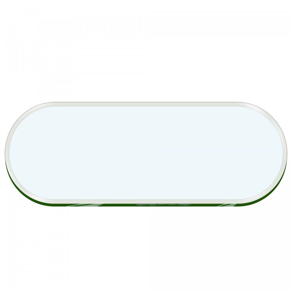 42 x 72 inch oval racetrack glass table top 1 2 inch thick clear tempered glass with 1 beveled edge polished