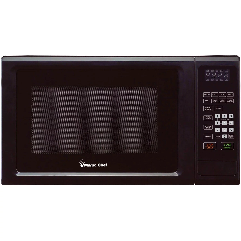 magic chef 1 1 cu ft microwave black